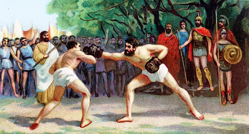 Dövüşe ait geçmiş zamanlara air bir görsel.