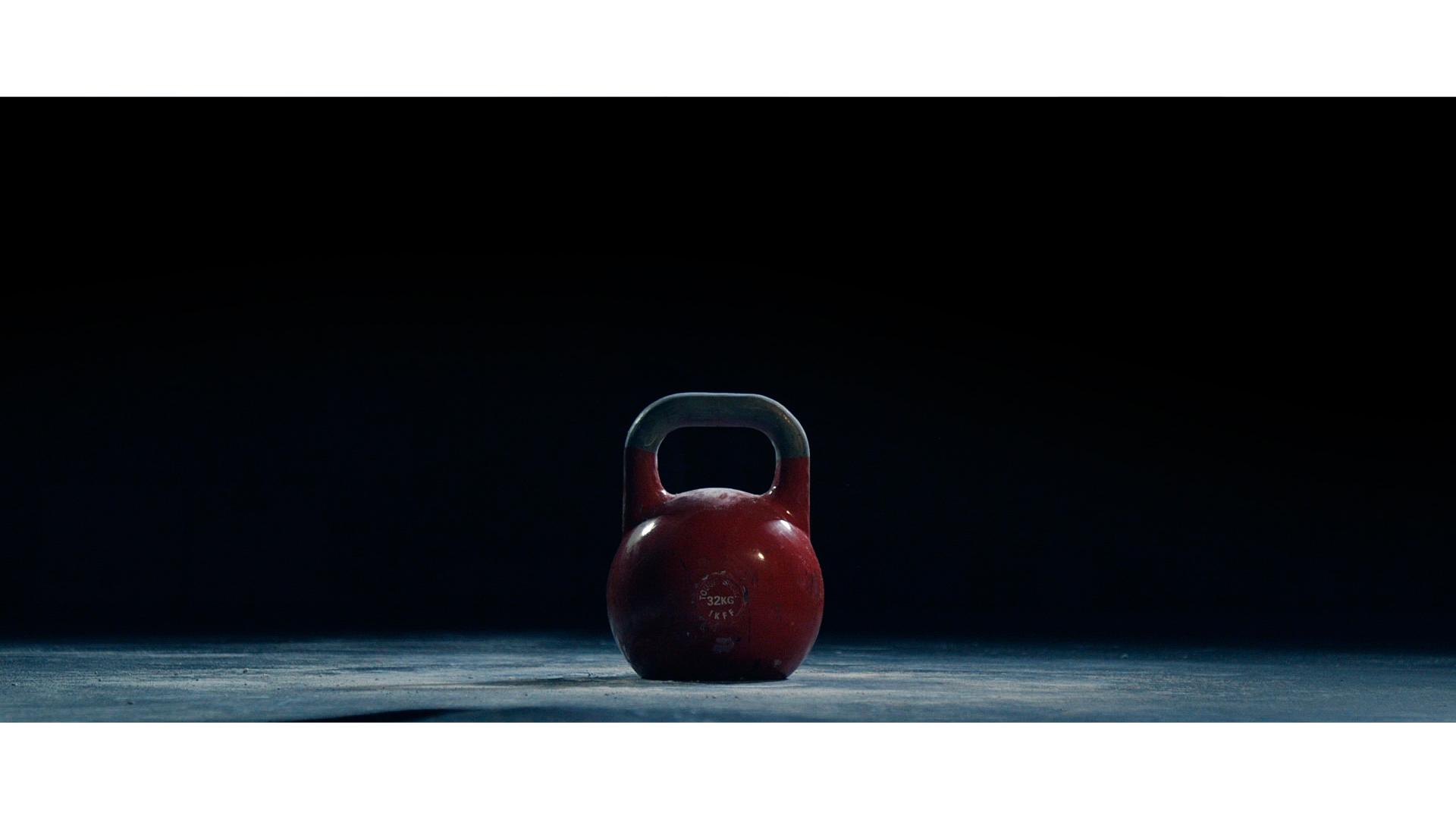 Kırmızı kettlebell görseli.