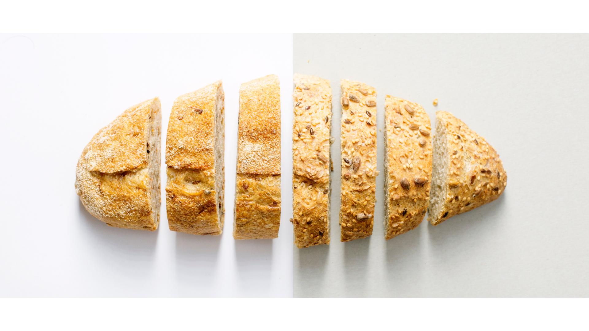 Doğru ekmek için örnek dilinlenmiş görsel.