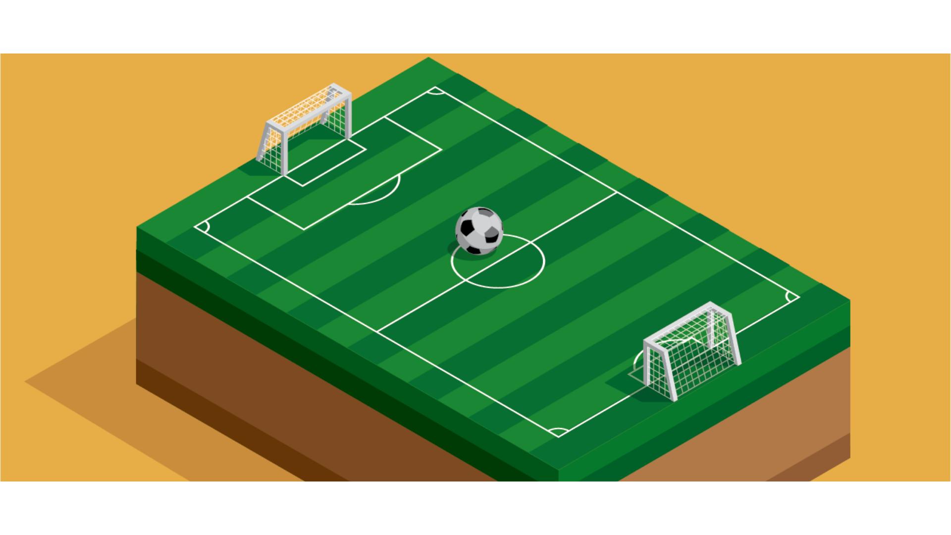 Futbol sahasına ait bir görsel.