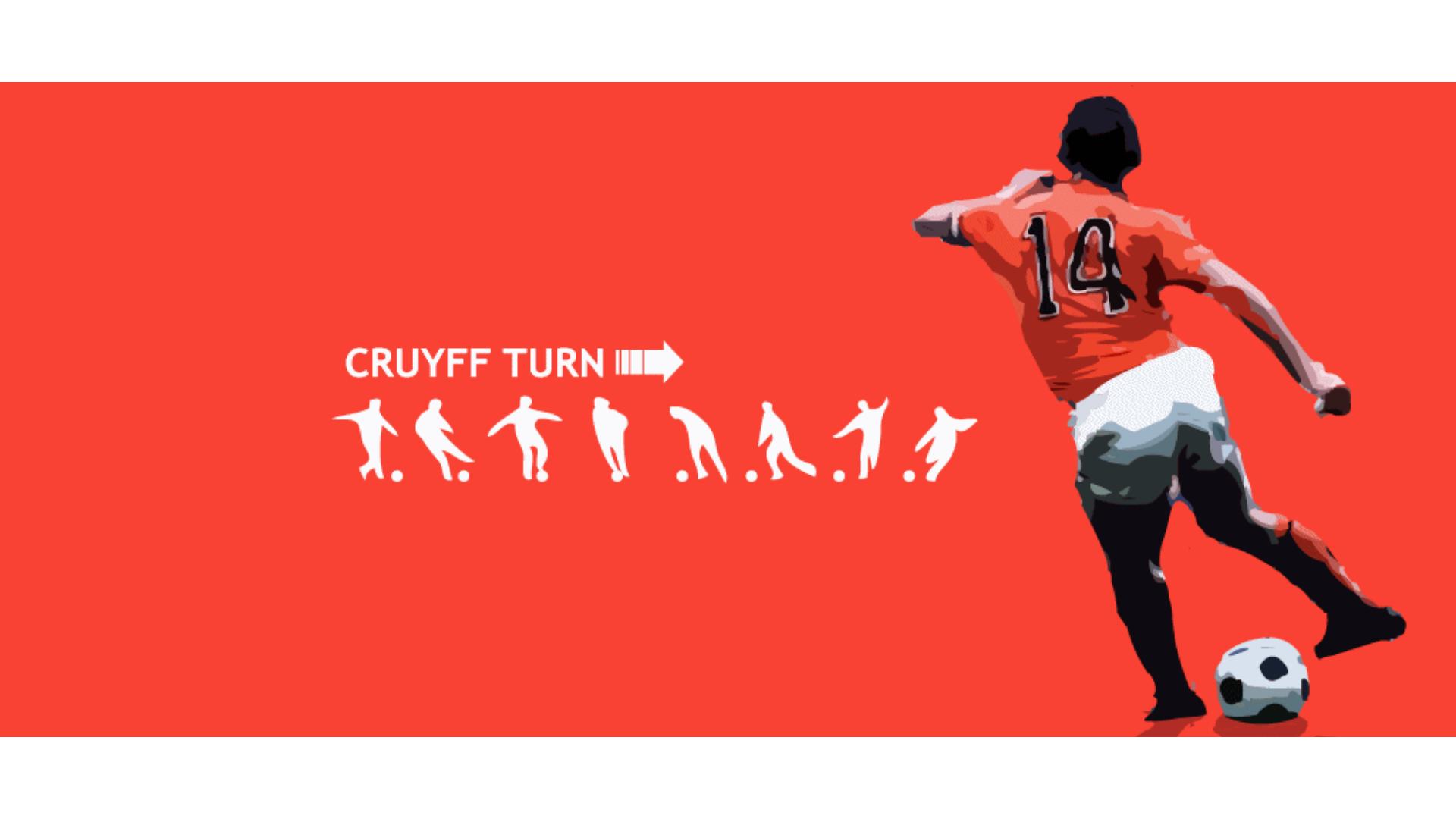 Harika portakal kitabında geçen cruyff dönüşüne ait bir görsel.