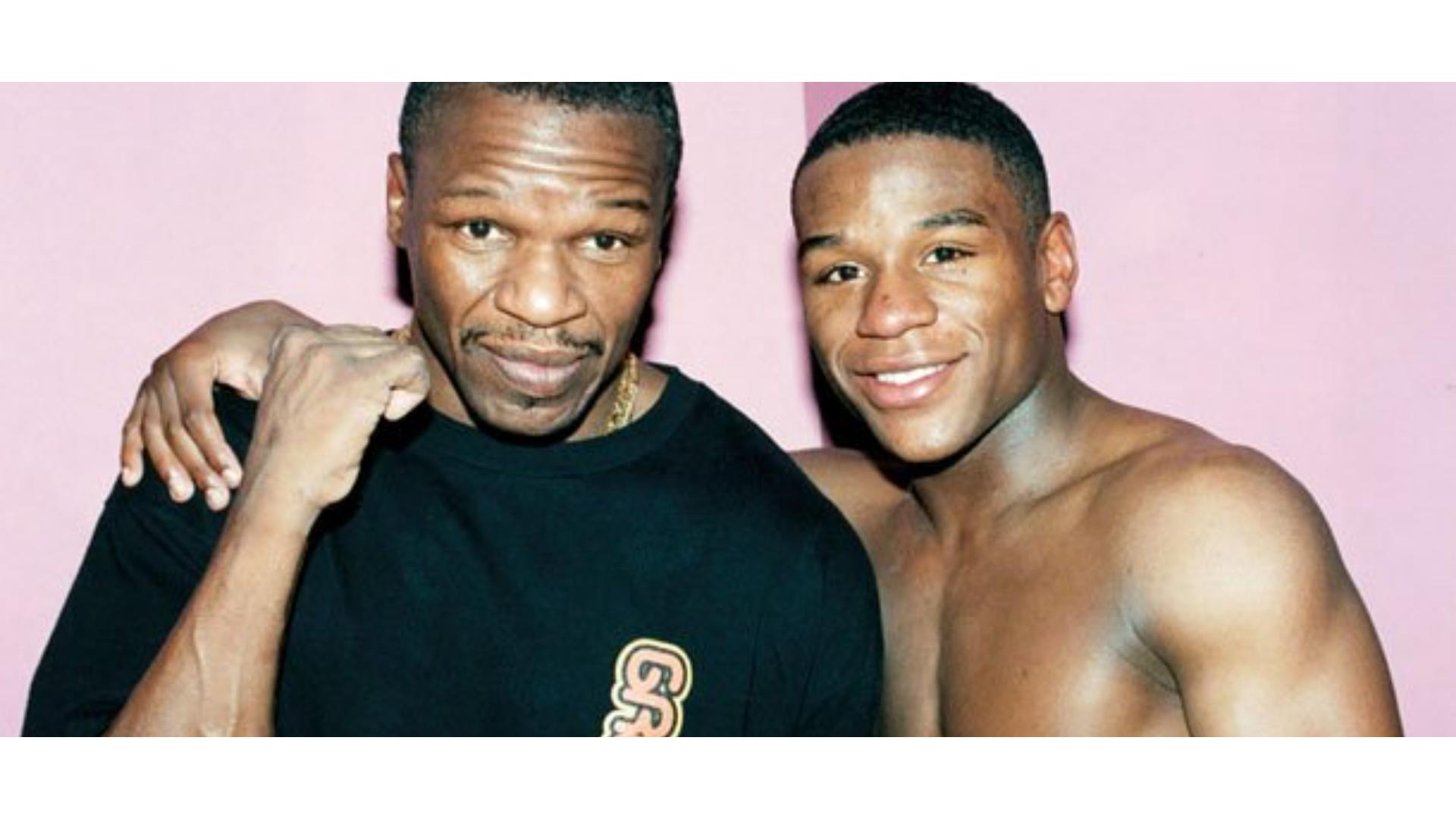 Floyd Mayweather ve babası ile olan bir görseli.