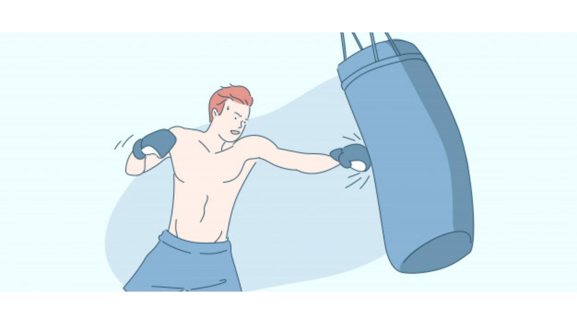 boksta bilinen en temel çalışmalar arasında olan kum torbası için kullanılan görsel.