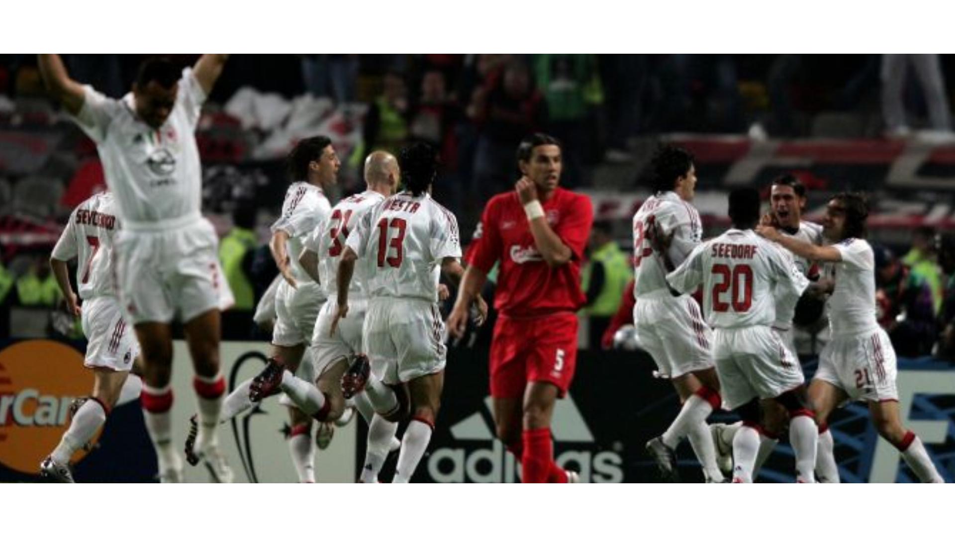 2005 şampiyonlar ligi finali yaşanılan gol sevinci görseli.
